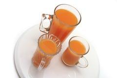 Lasses with orange juice Stock Image