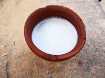 Free Lassi In Clay Kulhar Stock Photo - 129880600