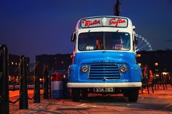 Lassic Commer Van at the Albert Dock in Liverpool, UK Royalty Free Stock Photos