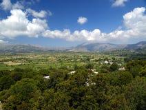 Lassithi plateau. View over lassithi, crete, greece stock photo