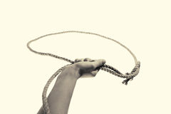 Lasso bw, toned Royalty Free Stock Images