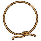Lasso de frontière de corde Photographie stock libre de droits
