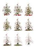 Lasso di tempo - albero di Natale Immagine Stock