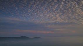 Lasso di tempo: Bella alba alla collina in Perlis Malesia Fotografie Stock