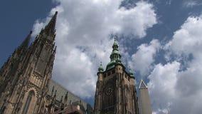 Lasso di tempo del castello di Praga, Praga stock footage