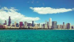 Lasso di tempo del centro della città di Chicago video d archivio