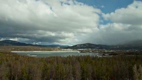 Lasso di tempo del paesaggio di inverno di Colorado - 4K - 4096x2304 video d archivio