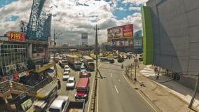 Lasso di tempo del traffico cittadino Manila video d archivio