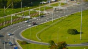 Lasso di tempo del traffico stradale video d archivio