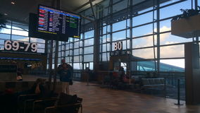 Lasso di tempo dell'aeroporto Queensland terminale internazionale Australia di Brisbane stock footage