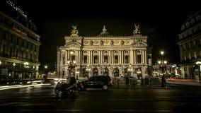 Lasso di tempo dell'opera Garnier a Parigi stock footage