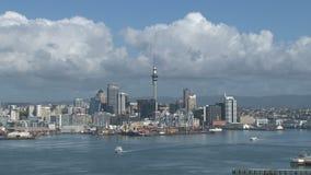 Lasso di tempo dell'orizzonte di Auckland, Nuova Zelanda stock footage