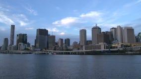 Lasso di tempo dell'orizzonte di Brisbane archivi video