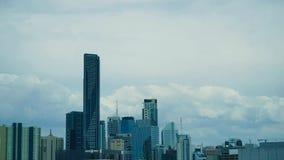 Lasso di tempo dell'orizzonte della città di Brisbane video d archivio