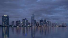 Lasso di tempo dell'orizzonte di Miami video d archivio