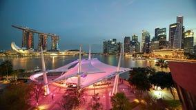 Lasso di tempo dell'orizzonte di Marina Bay Sands Singapore stock footage