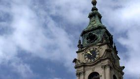 Lasso di tempo della chiesa di San Nicola, Praga stock footage