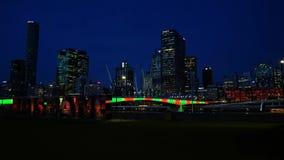 Lasso di tempo della città di Brisbane stock footage