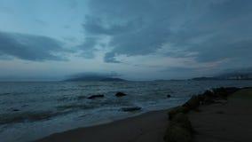 Lasso di tempo della linea costiera del Vietnam stock footage