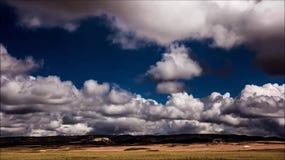 Lasso di tempo della nuvola stock footage