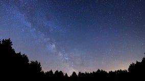 Lasso di tempo della Via Lattea video d archivio