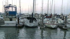 Lasso di tempo delle barche in San Francisco Bay video d archivio