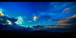 Lasso di tempo delle nuvole & della montagna Cipro (4k) stock footage
