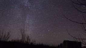 Lasso di tempo delle stelle della Via Lattea archivi video