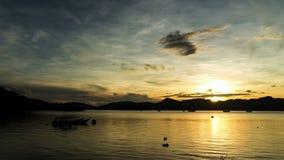 Lasso di tempo di alba di Langkawi video d archivio