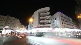 Lasso di tempo di deira 4k di notte dalla Dubai archivi video