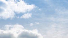 Lasso di tempo di muoversi delle nuvole stock footage