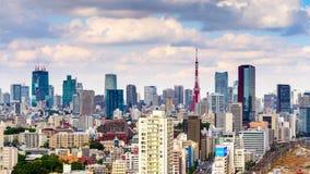 Lasso di tempo di paesaggio urbano di Tokyo, Giappone archivi video