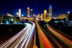 Lasso di tempo di traffico di Atlanta Fotografie Stock