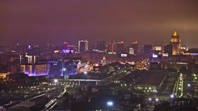 Lasso di tempo di traffico - Mosca, raccordo anulare del giardino archivi video