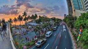 Lasso di tempo di traffico pedonale della città Manila HDR archivi video