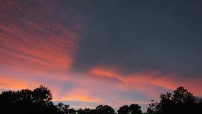 Lasso di tempo di tramonto stock footage