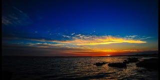 Lasso di tempo di tramonto nel Cipro (4k) video d archivio