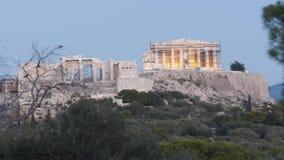 Lasso di tempo di vista frontale dell'acropoli archivi video
