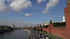 Lasso di tempo di Mosca di Cremlino stock footage