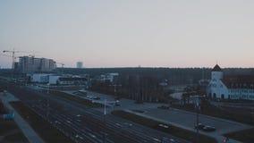Lasso di tempo nella città, sera, notte, giorno stock footage