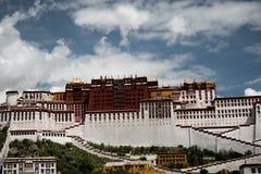 Lasso di tempo di Palazzo del Potala Posto di Dalai Lama Lhasa, Tibet Immagine Stock