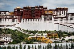 Lasso di tempo di Palazzo del Potala Posto di Dalai Lama Lhasa, Tibet Immagini Stock Libere da Diritti