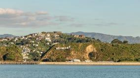 Lasso di tempo sopra l'aeroporto di Wellington video d archivio