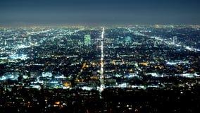 Lasso di tempo sparato della città di Los Angeles di notte stock footage