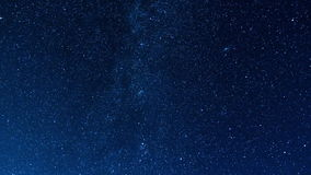 Lasso di tempo Starfall e la Via Lattea stock footage
