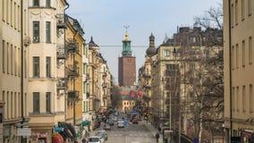 Lasso di tempo di Stoccolma Svezia archivi video