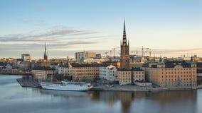 Lasso di tempo di Stoccolma Svezia stock footage