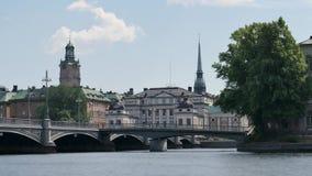 Lasso di tempo a Stoccolma, vecchia città stock footage