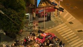 Lasso di tempo di traffico di Bangkok video d archivio