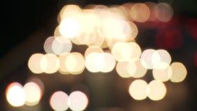 Lasso di tempo - traffico cittadino della LA - luci vaghe - clip 1 stock footage